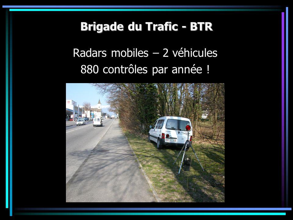 Brigade du Trafic - BTR Radars mobiles – 2 véhicules 880 contrôles par année !