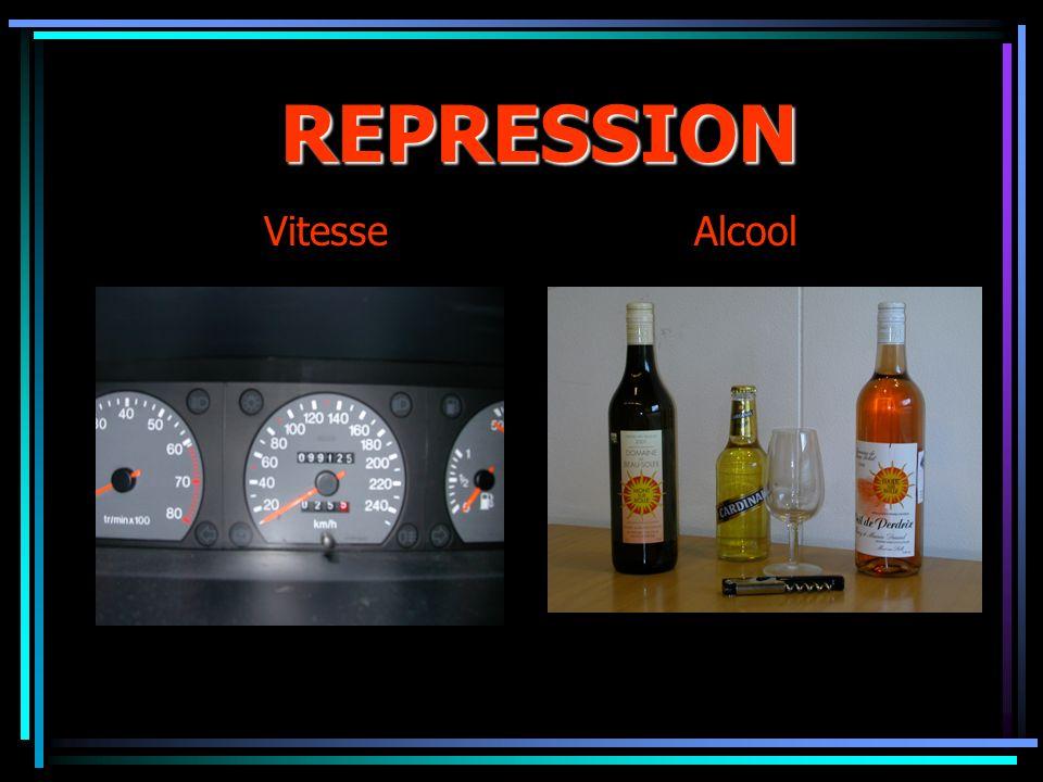 REPRESSION Vitesse Alcool