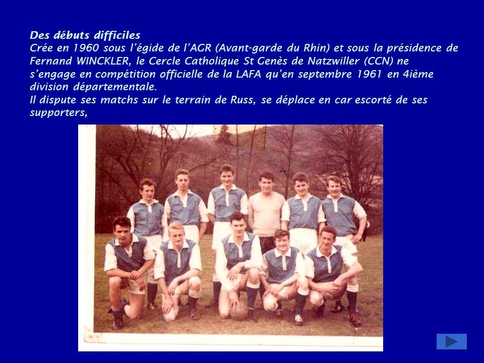 1990 : lAS Natzwiller, à linitiative de Joseph Epp, organise sa première Marche Populaire Internationale et saffilie à la Fédération Française des Sports Populaires (FFSP) En juin 1991 les membres du club démontent et déménagent à Natzwiller un pavillon de lécole Langevin cédé gracieusement par la ville de Strasbourg.