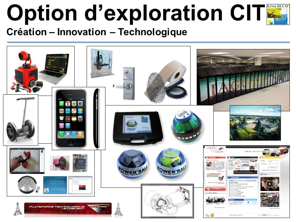 Option dexploration CIT Création – Innovation – Technologique