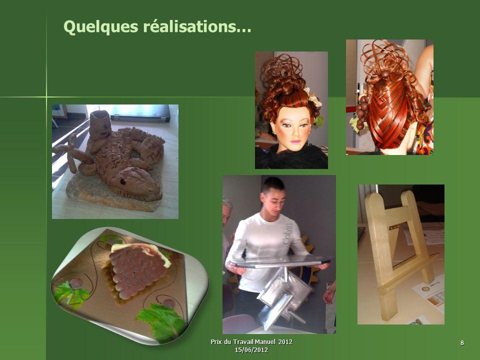 Clément UBASSY Création d une table basse en acier (VMS - Valaurie) 17 ans CAP Métallier 2 ème année CFA BATIPOLE 19 Prix du Travail Manuel 2012 15/06/2012