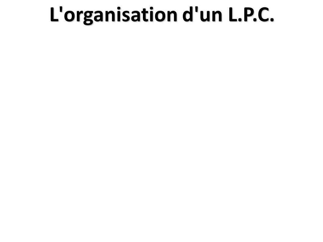L organisation d un L.P.C.