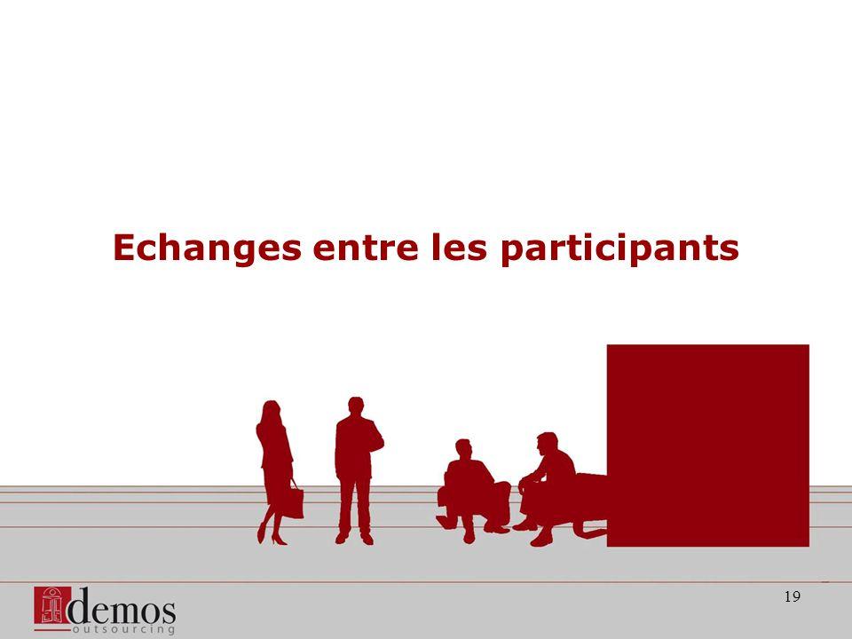 19 Echanges entre les participants