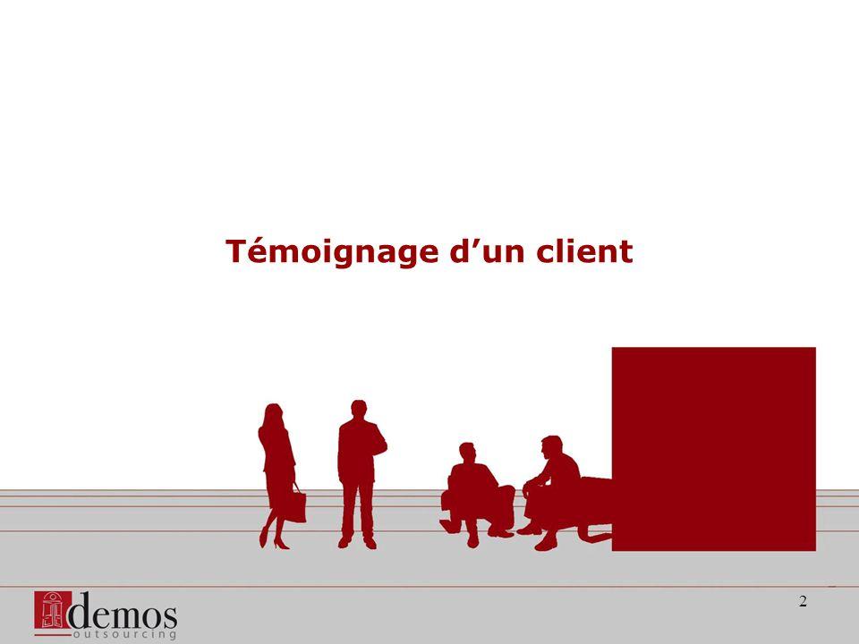 2 Témoignage dun client