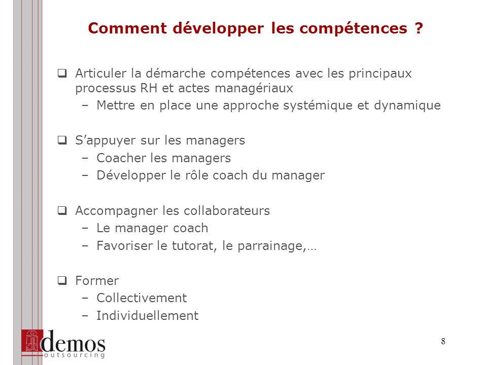 8 Comment développer les compétences .