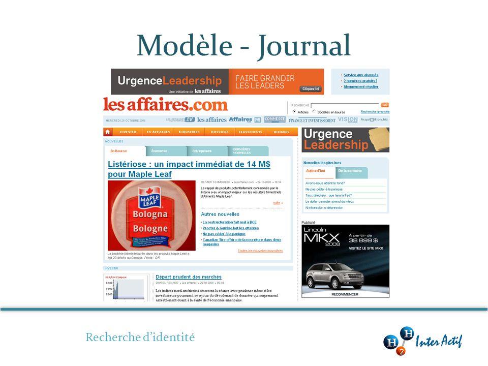Modèle - Journal Recherche didentité