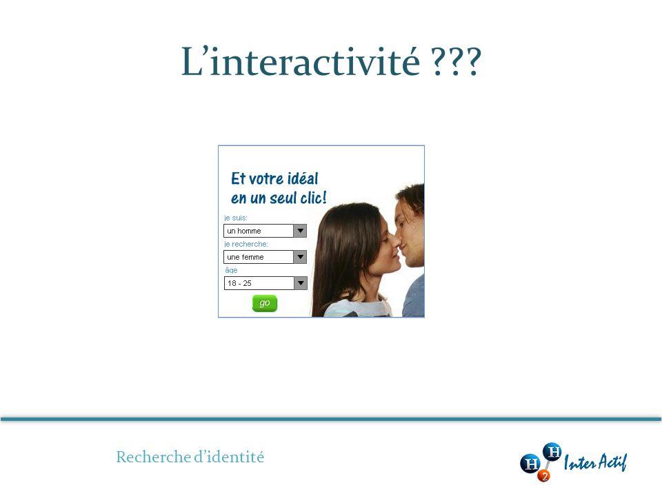 Linteractivité Recherche didentité