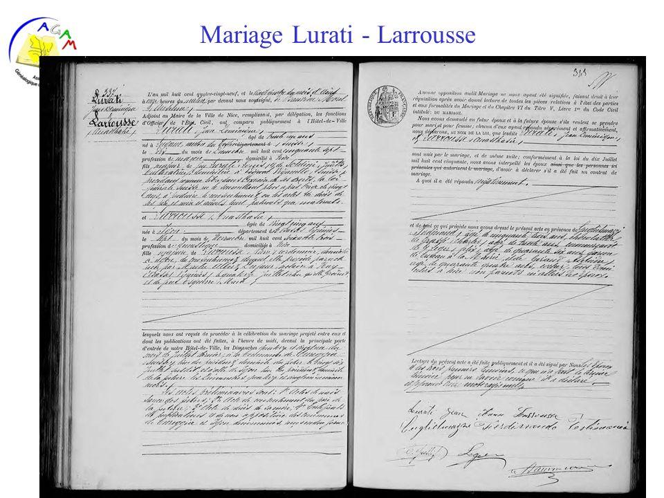 AGAM 35 Mariage Lurati - Larrousse