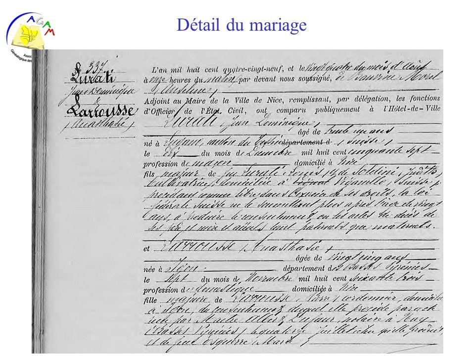 AGAM 36 Détail du mariage