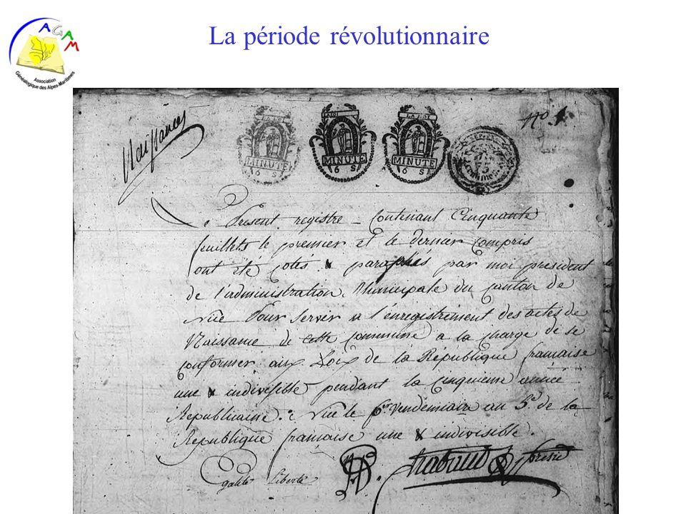 AGAM 37 La période révolutionnaire