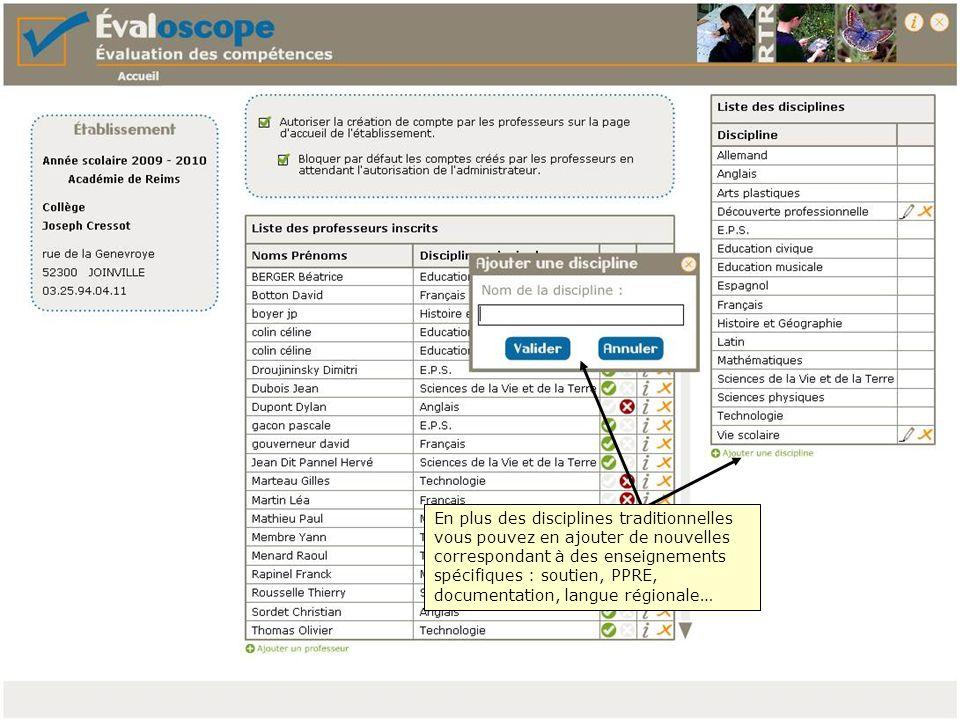Vous devez valider les propositions dEvaloscope en cliquant sur tous les V vert
