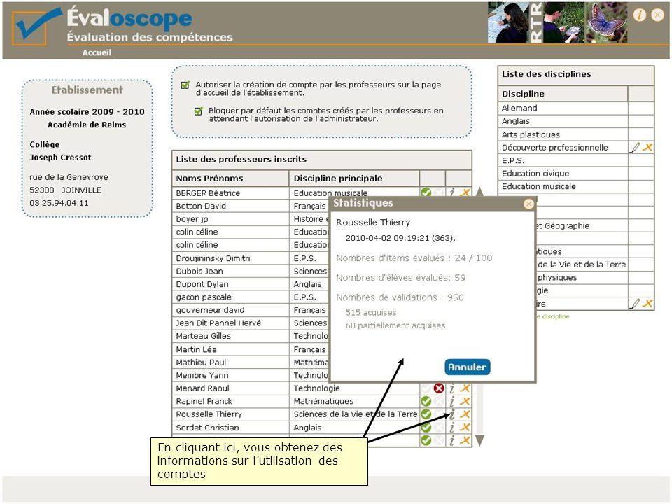 Après avoir enregistré les résultats de lélève vous pouvez éditer un document synthétique rassemblant toutes les informations relatives à la validation du socle commun.