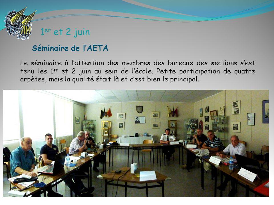 15 juin À Ambérieu, une cinquantaine darpètes civils et militaires sest réunie à linitiative de Manuel Vargas en présence dAlain Fabrol, président de la région Sud-Est et Gérard Soumillon, membre du C.A.