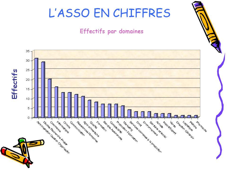 LASSO EN CHIFFRES Effectifs par domaines