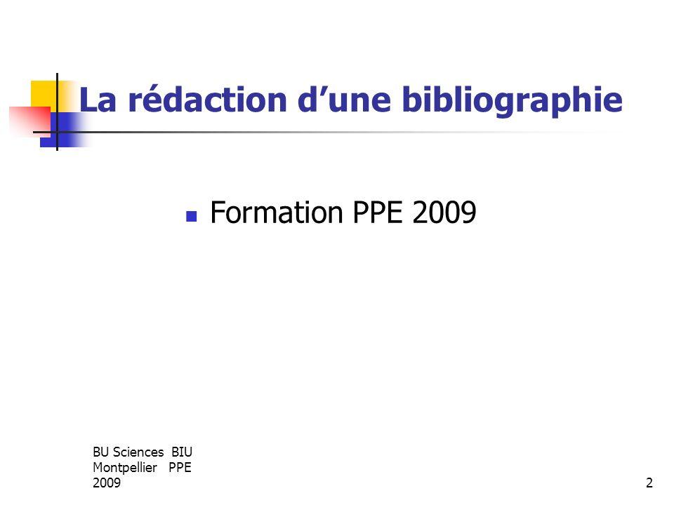Exemple de bibliographie classée par numéro dentrée en fin de rédaction