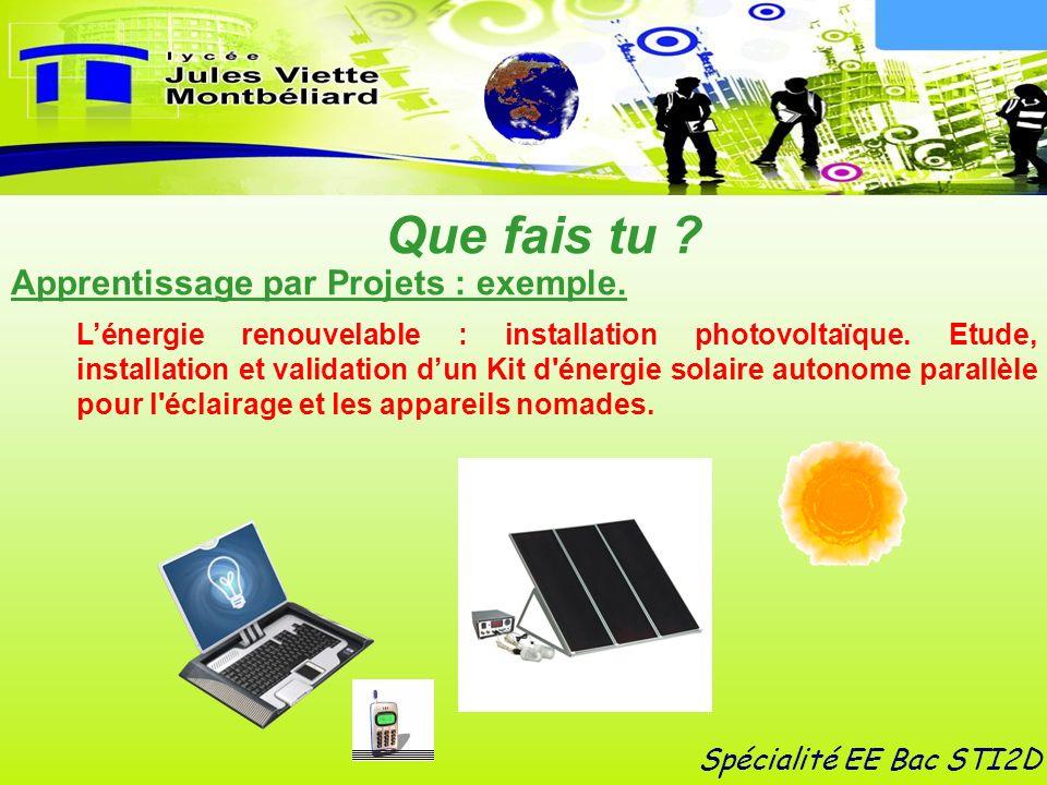 Lénergie renouvelable : installation photovoltaïque. Etude, installation et validation dun Kit d'énergie solaire autonome parallèle pour l'éclairage e