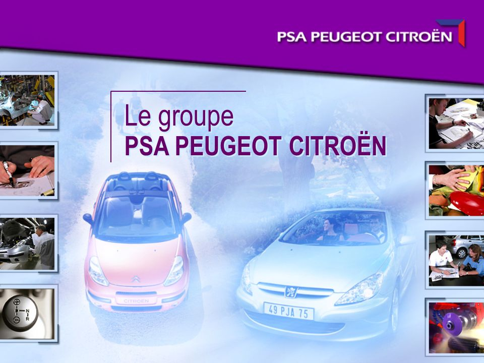 Le deuxième constructeur en Europe Part de marché 2003 en Europe (16 marchés) (voitures particulières + véhicules utilitaires légers) VAG PSA Peugeot Citroën Renault Ford General Motors Fiat Daimler Chrysler Toyota BMW Nissan