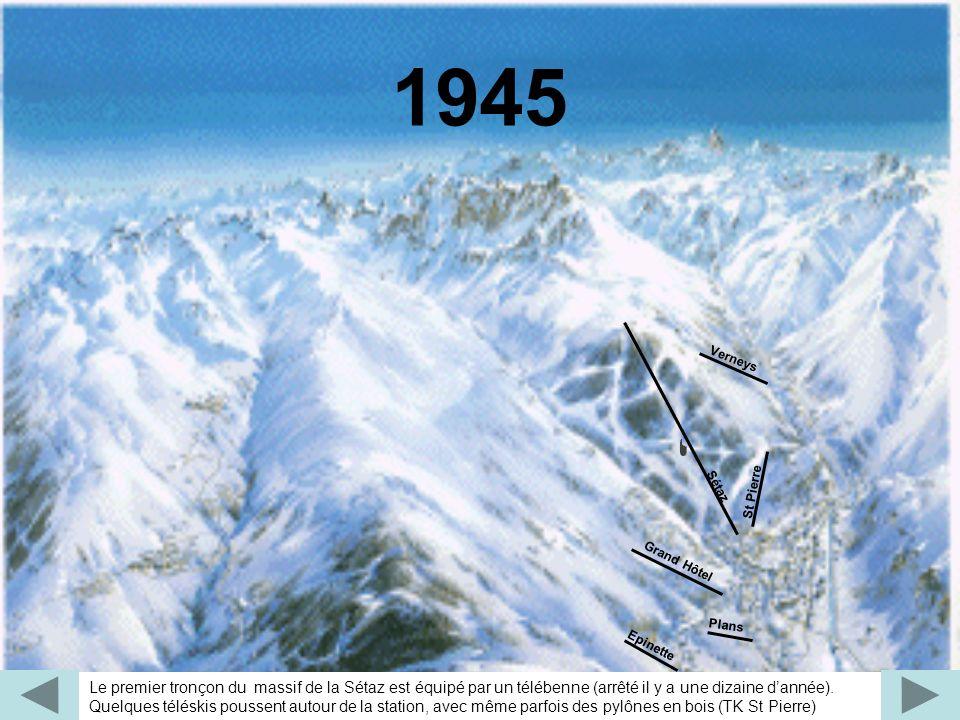 Les télébennes envahissent Valloire avec la création du 2e tronçon de la Sétaz et du massif du Crêt Rond, alors que le Crey du Quart reste encore vierge, avec cependant des idées de grands projets (téléphérique) Sétaz 2 Crêt Rond Verneys St Pierre Plans Grand Hôtel Sétaz 1951 - 1959