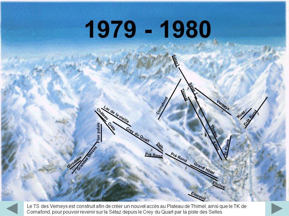 Grâce aux TS de Montissot et Colérieux, les skieurs peuvent remonter directement sur le Crey du Quart.