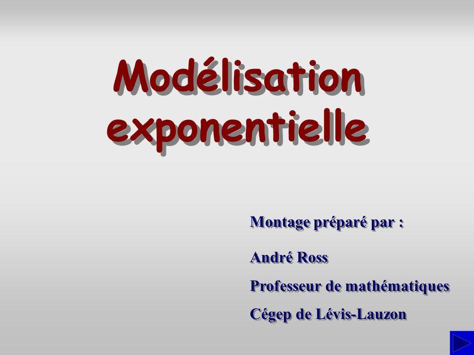 Montage préparé par : André Ross Professeur de mathématiques Cégep de Lévis-Lauzon André Ross Professeur de mathématiques Cégep de Lévis-Lauzon Modéli