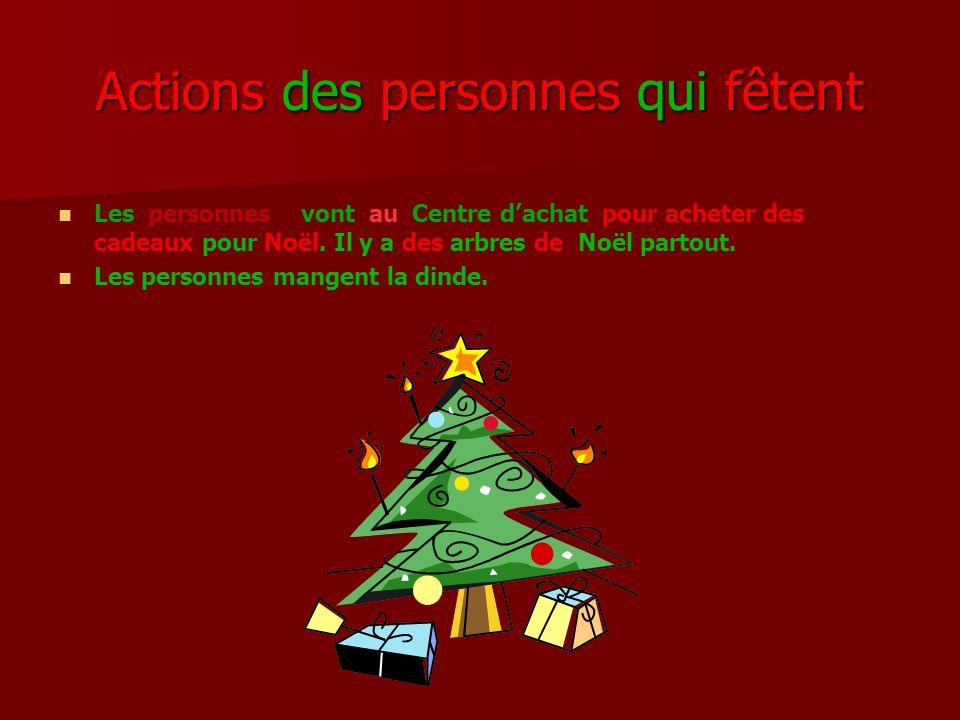 Actions des personnes qui fêtent Les personnes vont au Centre dachat pour acheter des cadeaux pour Noël.