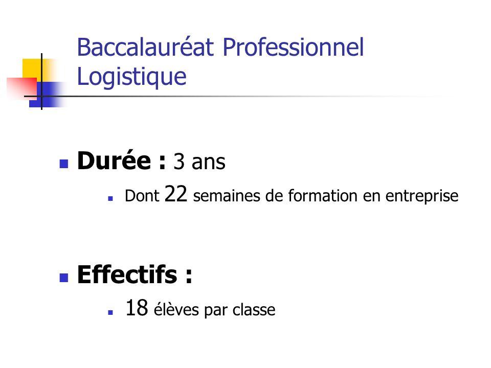 Baccalauréat Professionnel Logistique