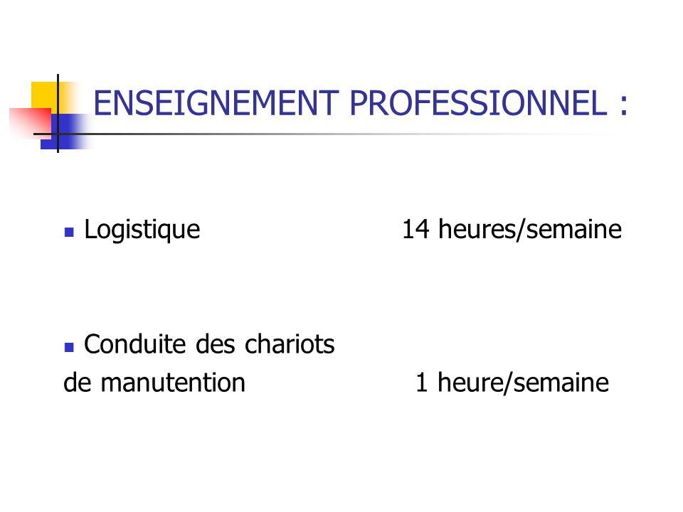 COMPÉTENCES PROFESSIONNELLES : Prendre en charge les flux entrants (réception des marchandises et traitement des litiges) Prendre en charge les flux s