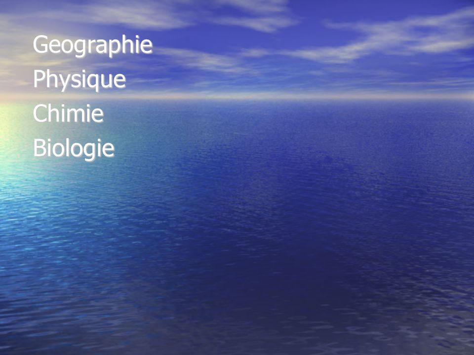 GeographiePhysiqueChimieBiologie