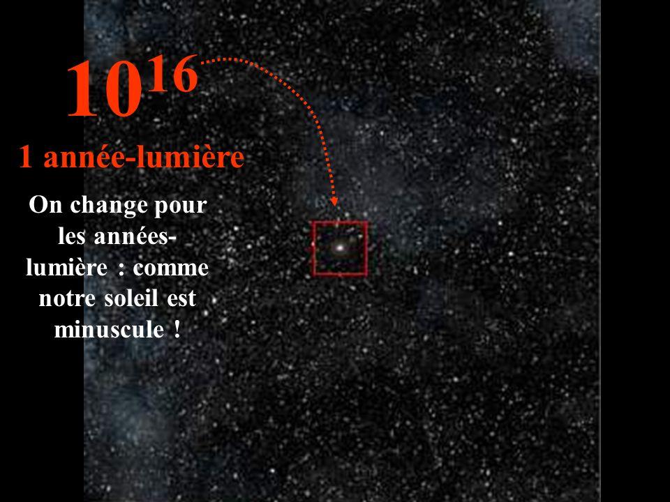 Notre soleil nest quune étoile parmi tant dautres... 10 15 1 trillion de km