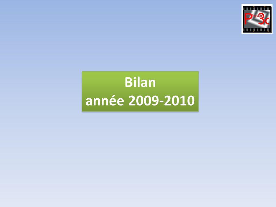 Bilan année 2009-2010 Bilan année 2009-2010