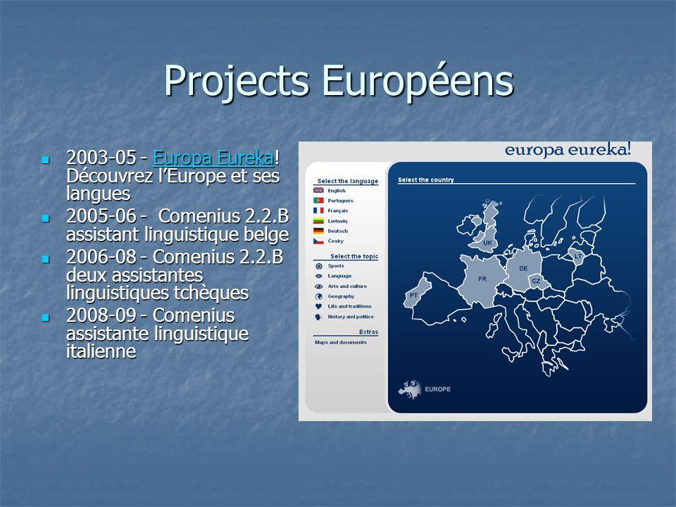 Projects Européens 2003-05 - Europa Eureka! Découvrez lEurope et ses langues 2003-05 - Europa Eureka! Découvrez lEurope et ses languesEuropa EurekaEur