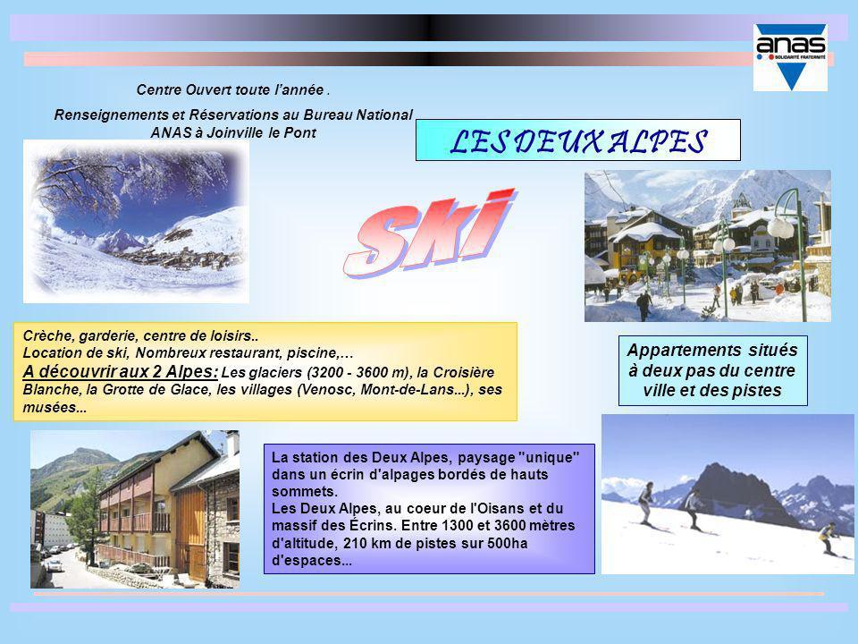 LES DEUX ALPES La station des Deux Alpes, paysage