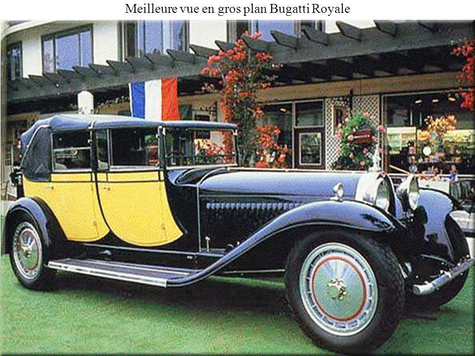 Meilleure vue en gros plan Bugatti Royale