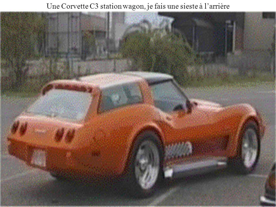 Une Corvette C3 station wagon, je fais une sieste à larrière