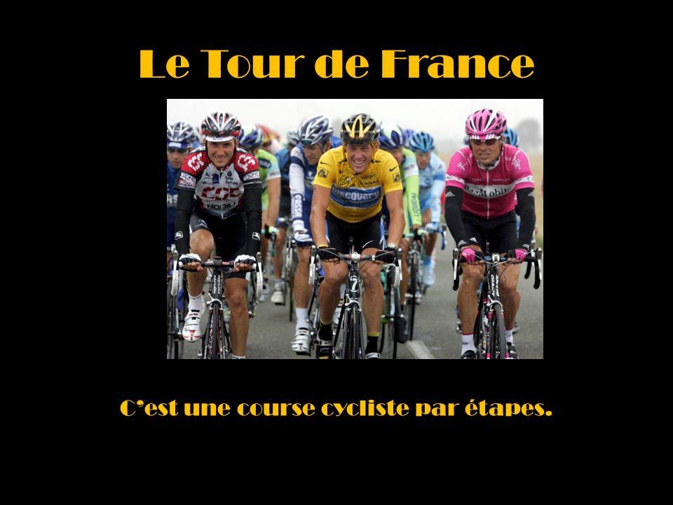 Le Tour de France Cest une course cycliste par étapes.