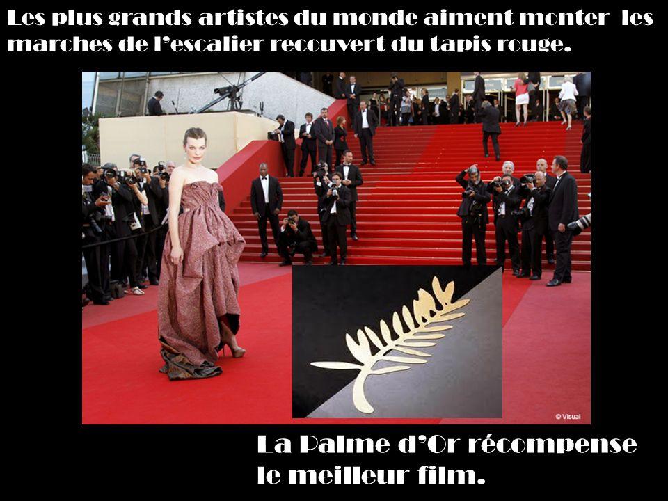 La Palme dOr récompense le meilleur film.