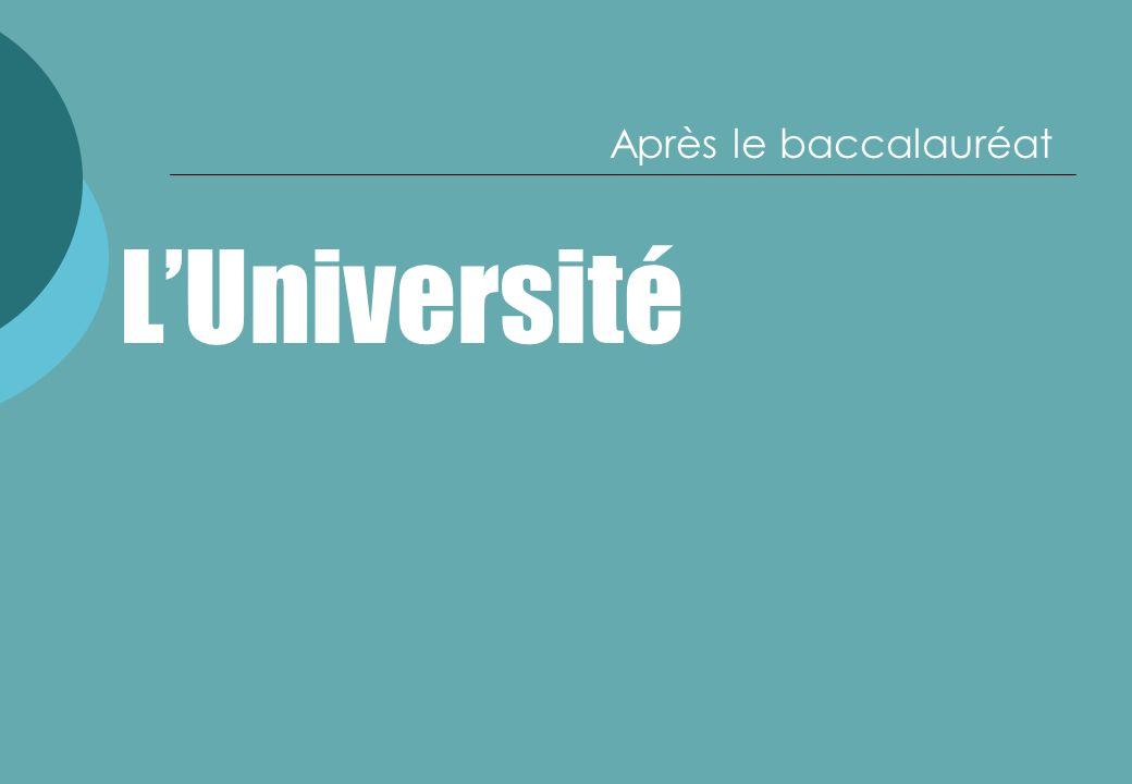 LUniversité Après le baccalauréat