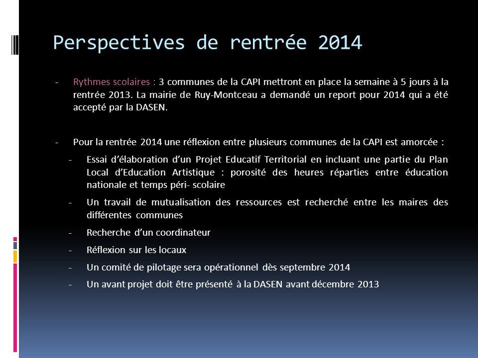 Perspectives de rentrée 2014 - Rythmes scolaires : 3 communes de la CAPI mettront en place la semaine à 5 jours à la rentrée 2013. La mairie de Ruy-Mo