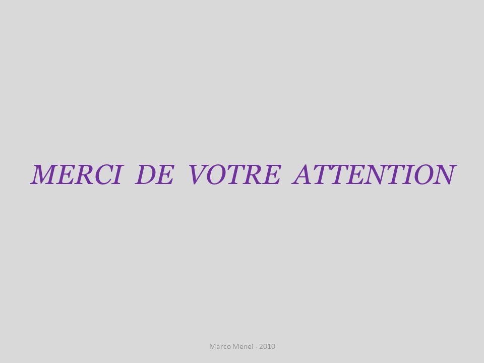 MERCI DE VOTRE ATTENTION Marco Menei - 2010