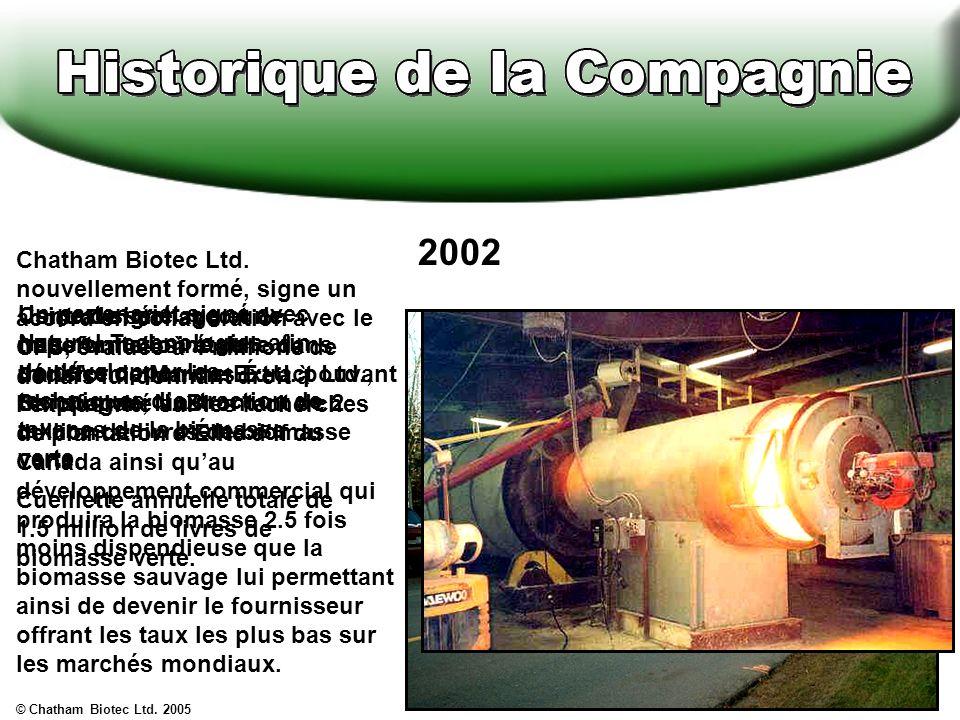 Contrat signé avec le Québec en vue de fournir de la biomasse transformée afin de pouvoir commencer lusine dextraction.