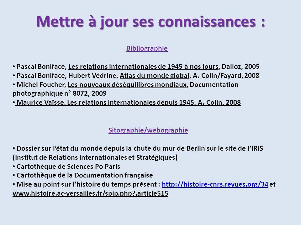 Bibliographie Pascal Boniface, Les relations internationales de 1945 à nos jours, Dalloz, 2005 Pascal Boniface, Hubert Védrine, Atlas du monde global,
