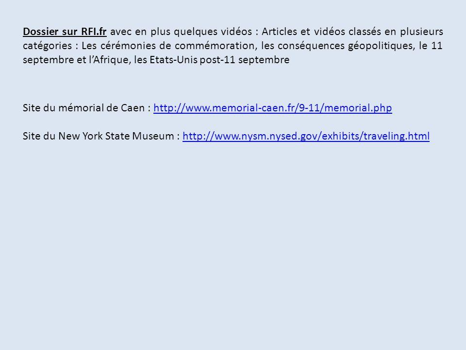 Dossier sur RFI.fr avec en plus quelques vidéos : Articles et vidéos classés en plusieurs catégories : Les cérémonies de commémoration, les conséquenc