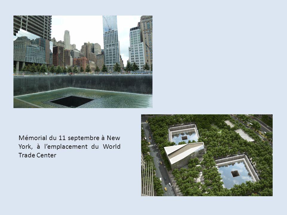 Mémorial du 11 septembre à New York, à lemplacement du World Trade Center
