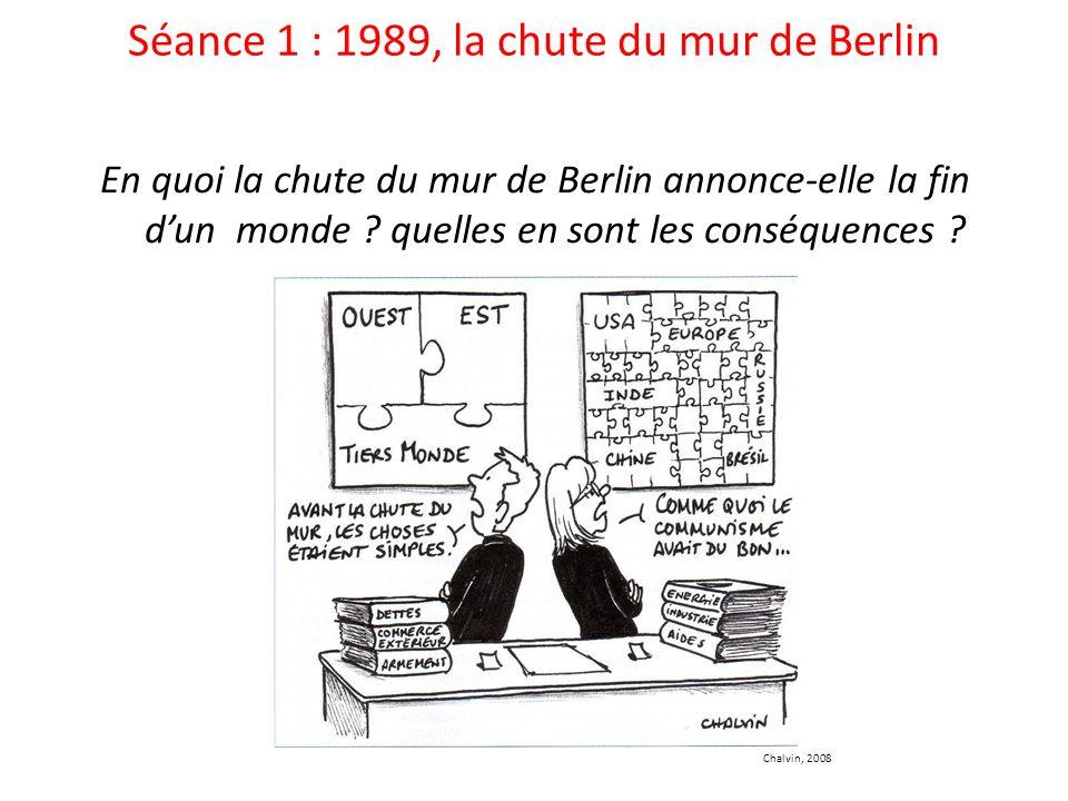 Séance 1 : 1989, la chute du mur de Berlin En quoi la chute du mur de Berlin annonce-elle la fin dun monde .