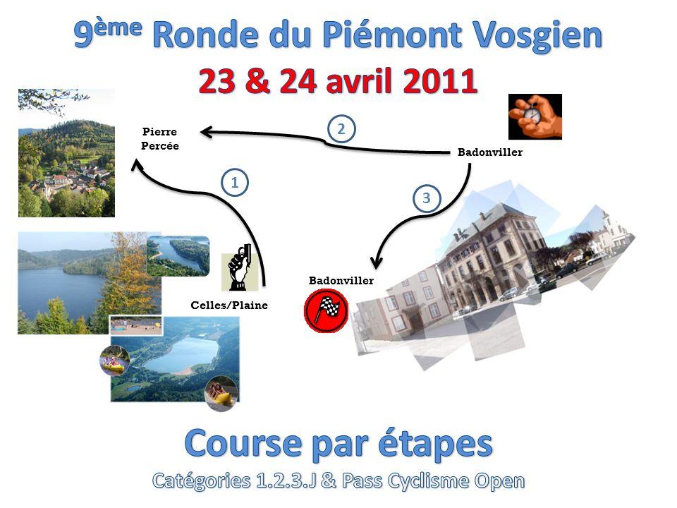Celles/Plaine Badonviller Pierre Percée Badonviller 1 3 2