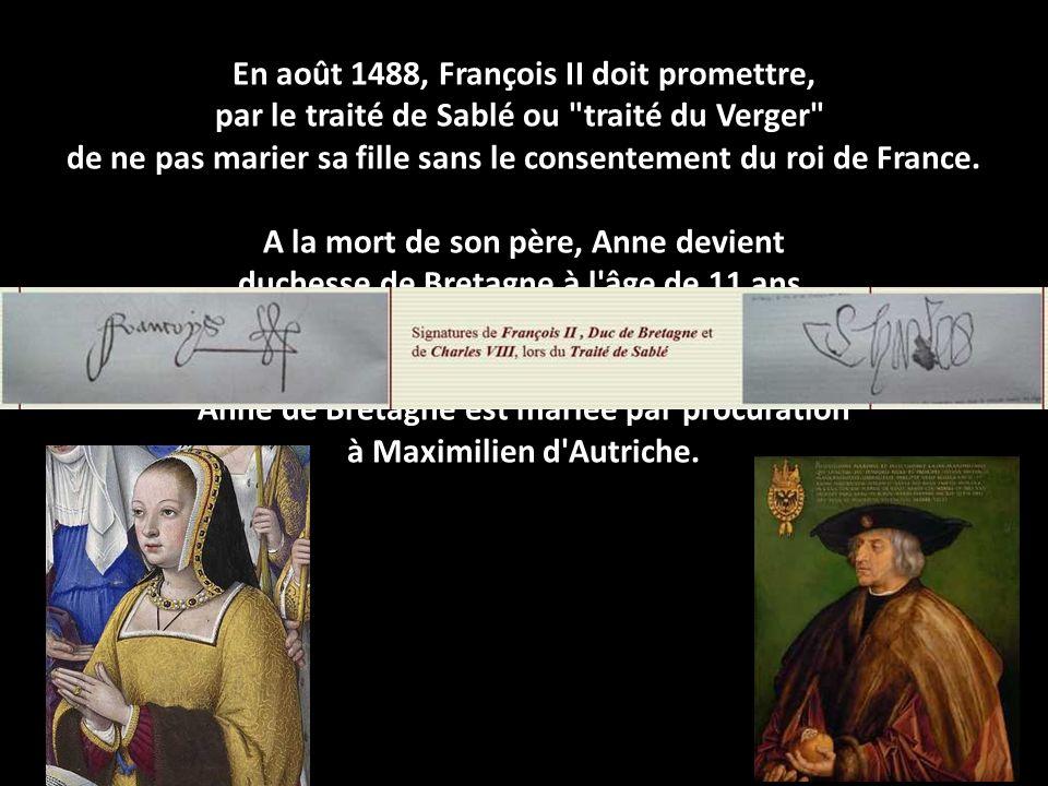 Née à Nantes en 1477, Anne de Bretagne est la fille aînée de François II, Duc de Bretagne. François II