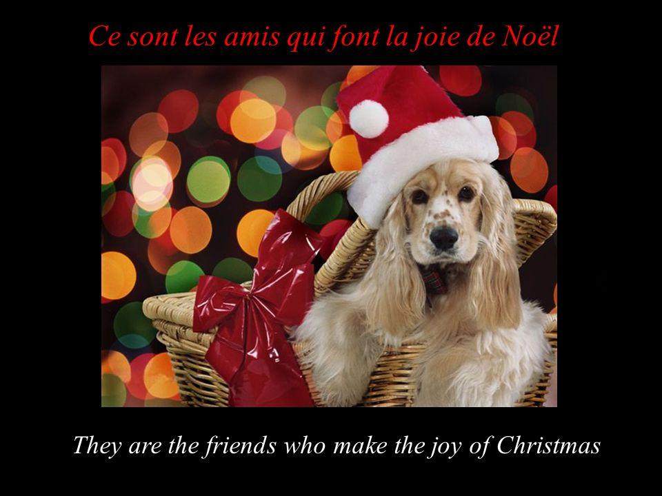 Ce sont les amis qui font la joie de Noël They are the friends who make the joy of Christmas