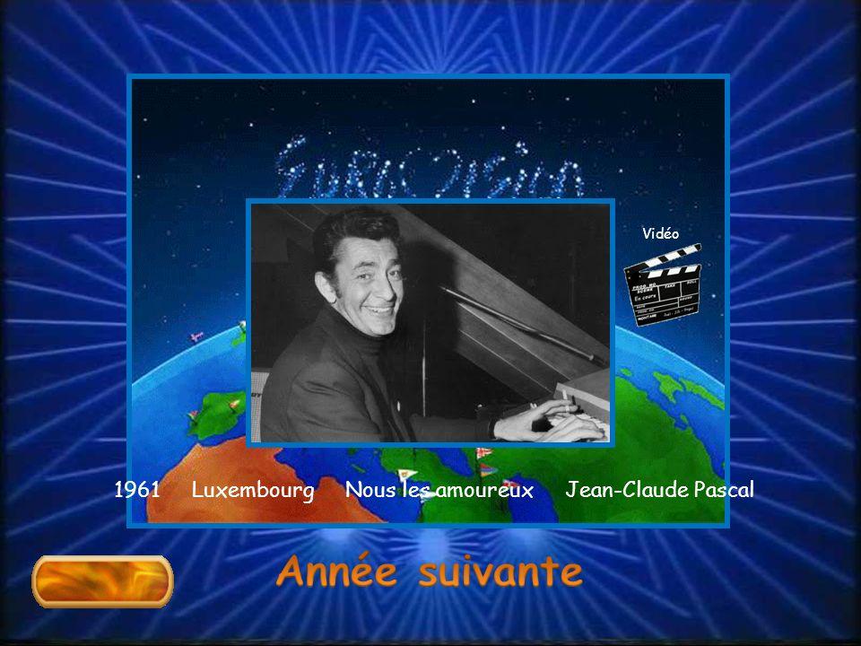 1961 Luxembourg Nous les amoureux Jean-Claude Pascal Vidéo