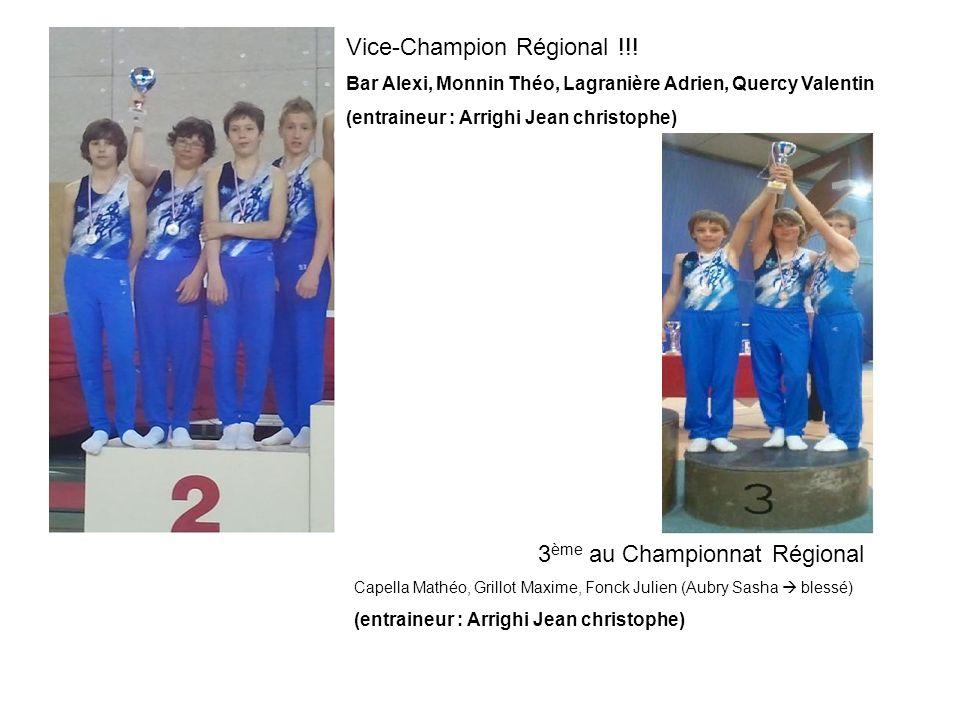 Vice-Champion Régional !!! Bar Alexi, Monnin Théo, Lagranière Adrien, Quercy Valentin (entraineur : Arrighi Jean christophe) 3 ème au Championnat Régi