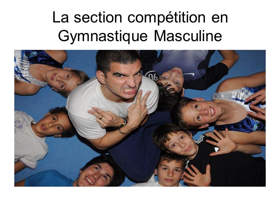 La section compétition en Gymnastique Masculine